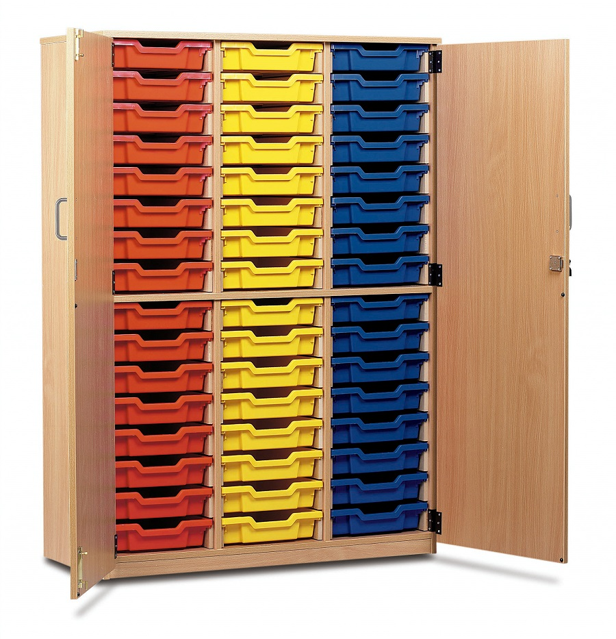 Beech -Tray Storage Cupboards