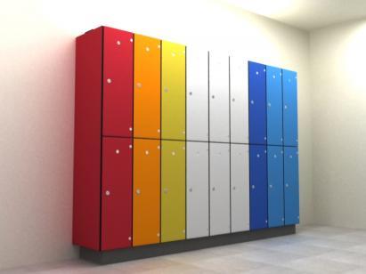 Leisure Lockers Aluminium Body with SGL Doors