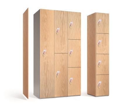 Timber Effect MDF Door Lockers
