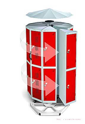 Pod Lockers Extreme Space Saving