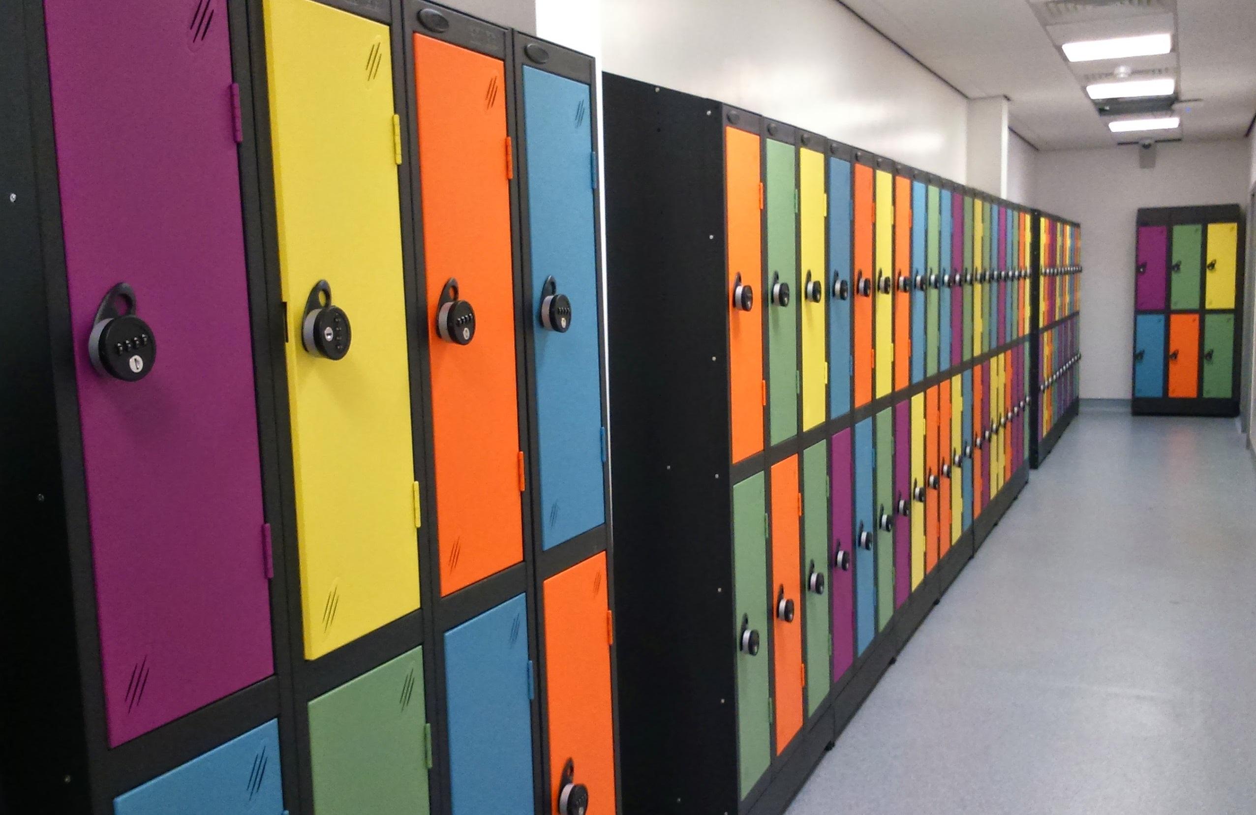 Colour Range One Door Locker - Nest of 2