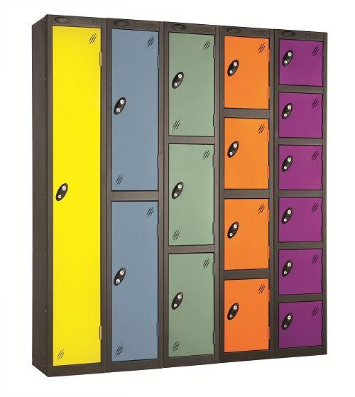 Colour Range One Door Locker - Nest of 3