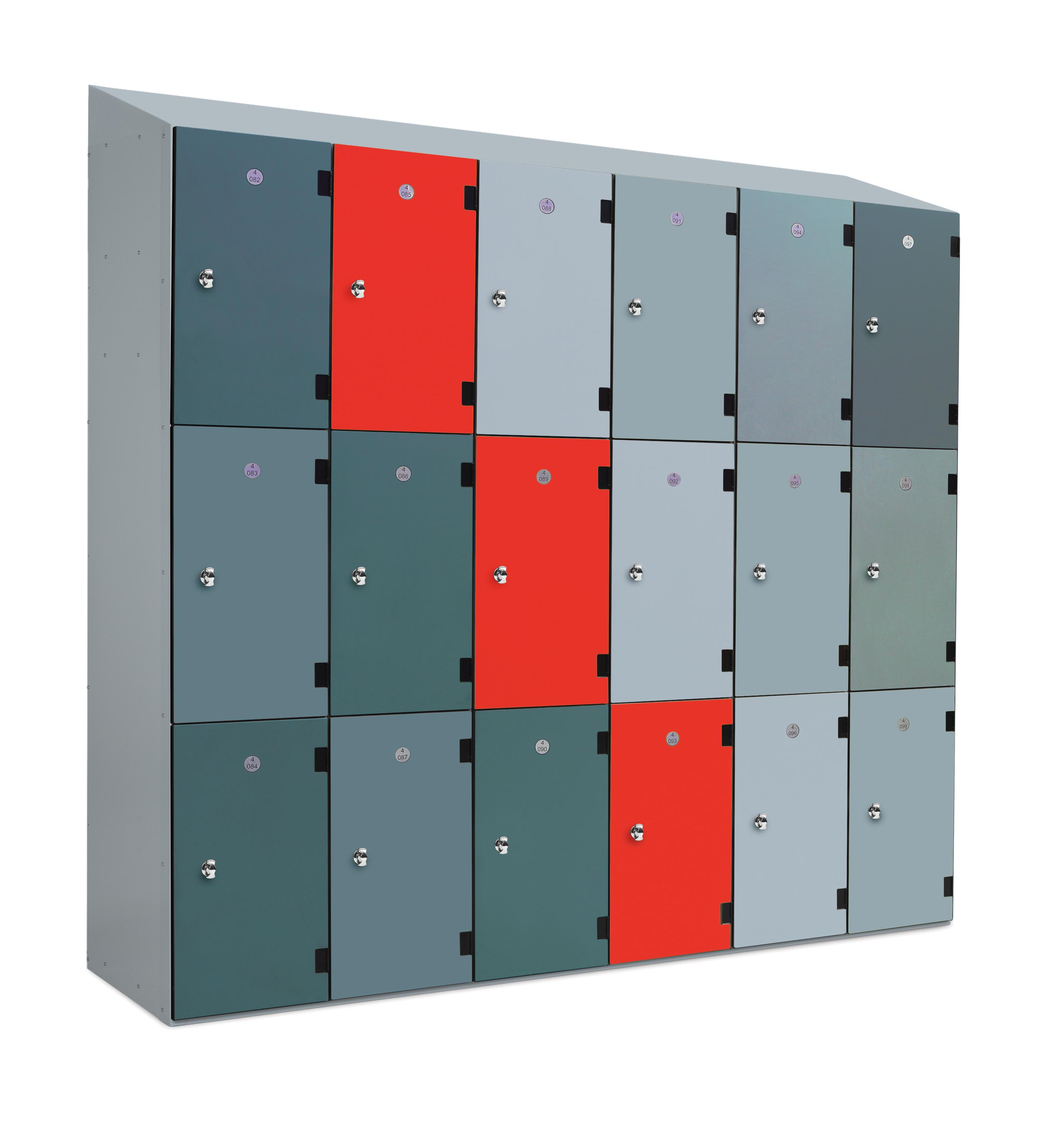 Low level 2 Tiers Overlay Laminate School Locker