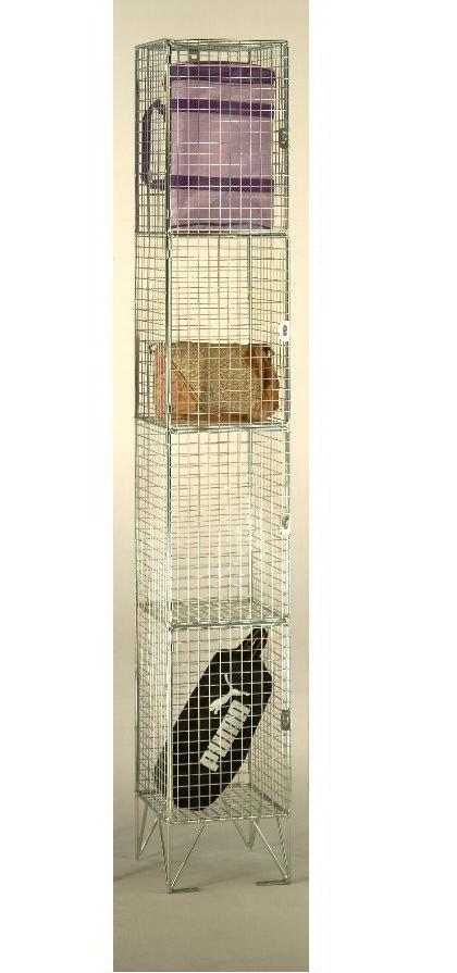 4 Compartments Wire Mesh Locker