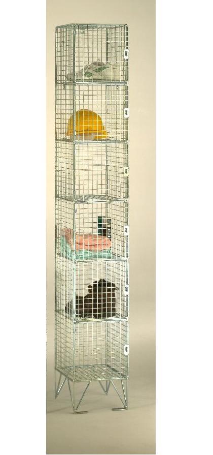 Wire mesh 6 Compartments Locker