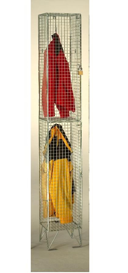 Wire Mesh 2 Compartments Locker