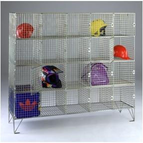 Wire mesh 20 compartments Personal effects locker