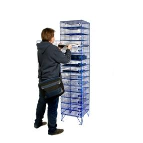 15 Doors, 15 Compartments - Wiremesh Laptop Locker