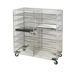 Mobile 2  Doors - sixteen Compartments Wiremesh  Laptop Locker