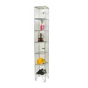 6 compartments wire mesh