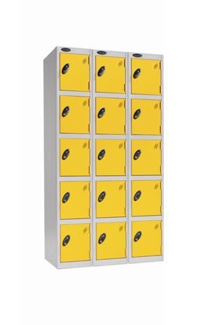 School Value Five Doors Locker - Nest of 3