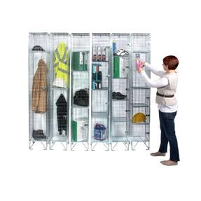 5 compartments wire mesh
