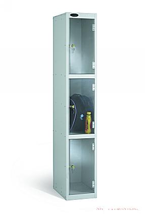 Three Door Clear View Anti Stock Theft Locker