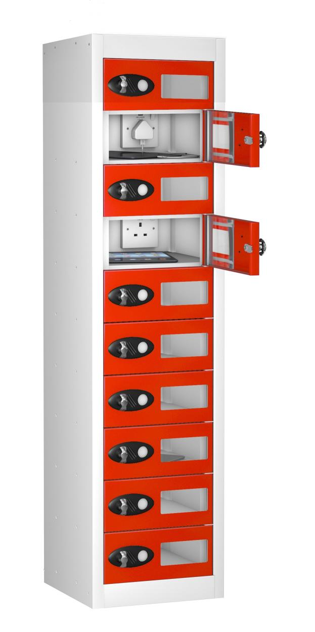Vision Panel 10 Compartment Mobile Phone Charging Locker