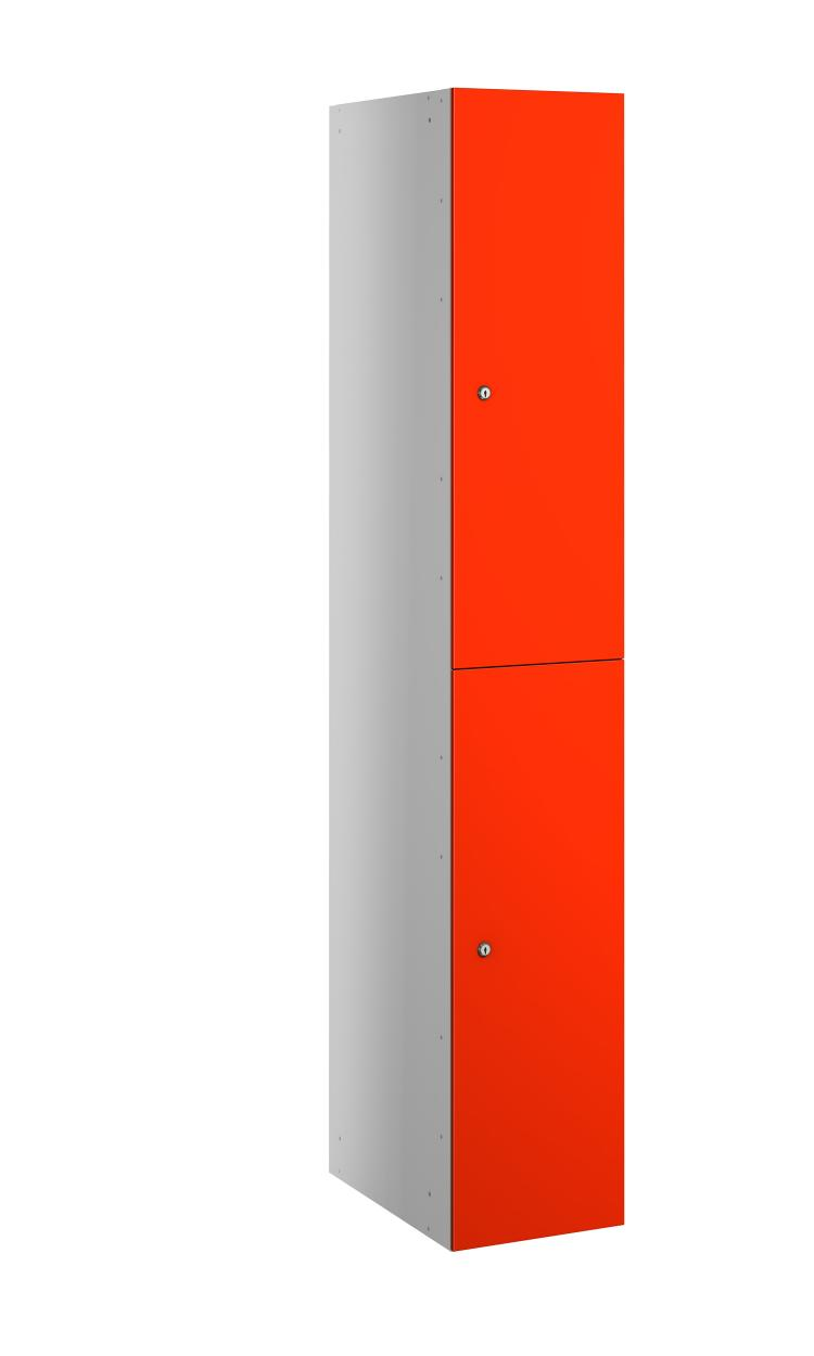 2 Compartment Satin Finish- MFC Door Locker