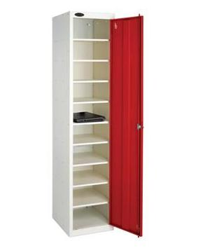 Single Door 10 Shelf School Laptop Locker