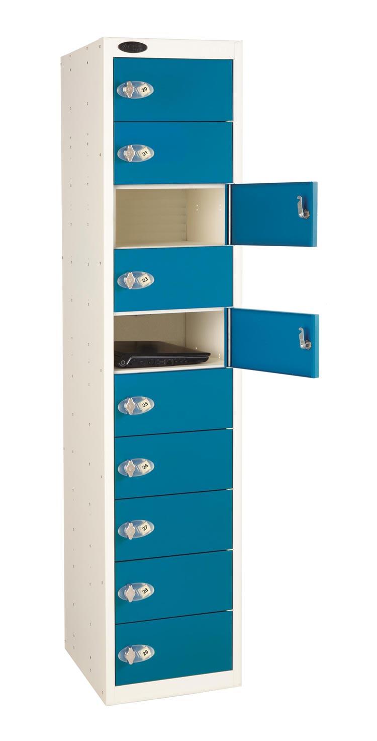 10 Doors 10 Shelf Laptop Locker non charging