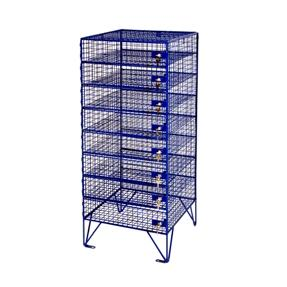 mobile on castors 8 Doors, 8 Compartments - Wiremesh Laptop Locker