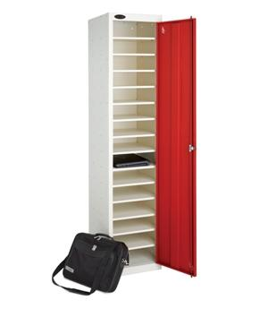 Single Door 15 Shelf School Laptop Locker