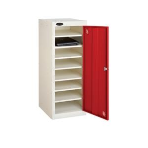 Low 1 Door 8 Shelf School Laptop Locker