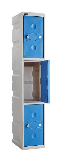 Three Doors Water Resistant Lockers