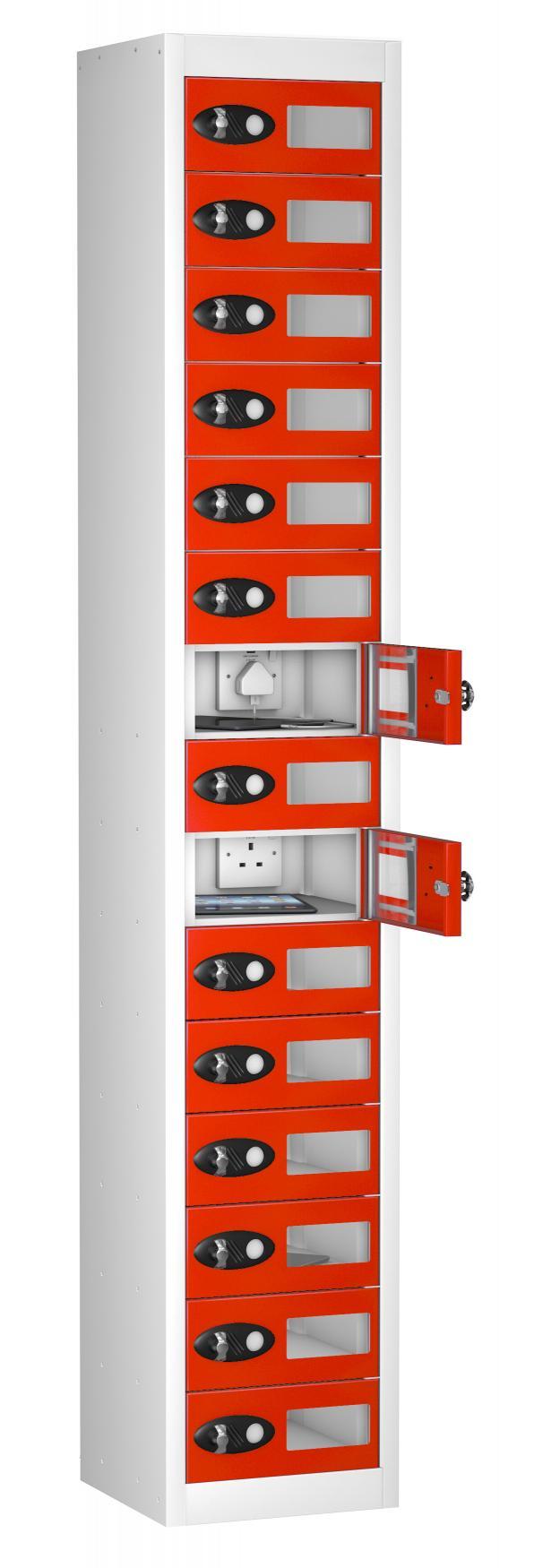 School Vision Panel 15 Door TABLET Charging Locker