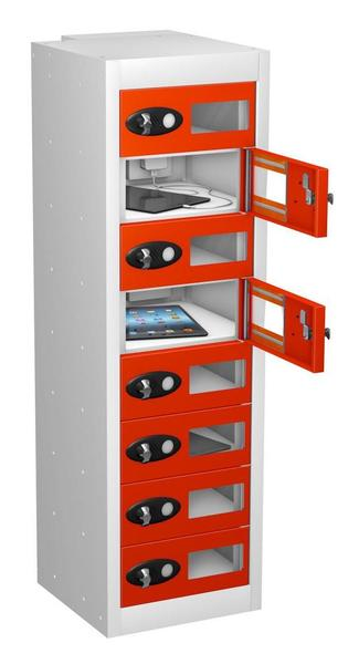 Vision Panel 8 Door Mobile Phone Charging Locker