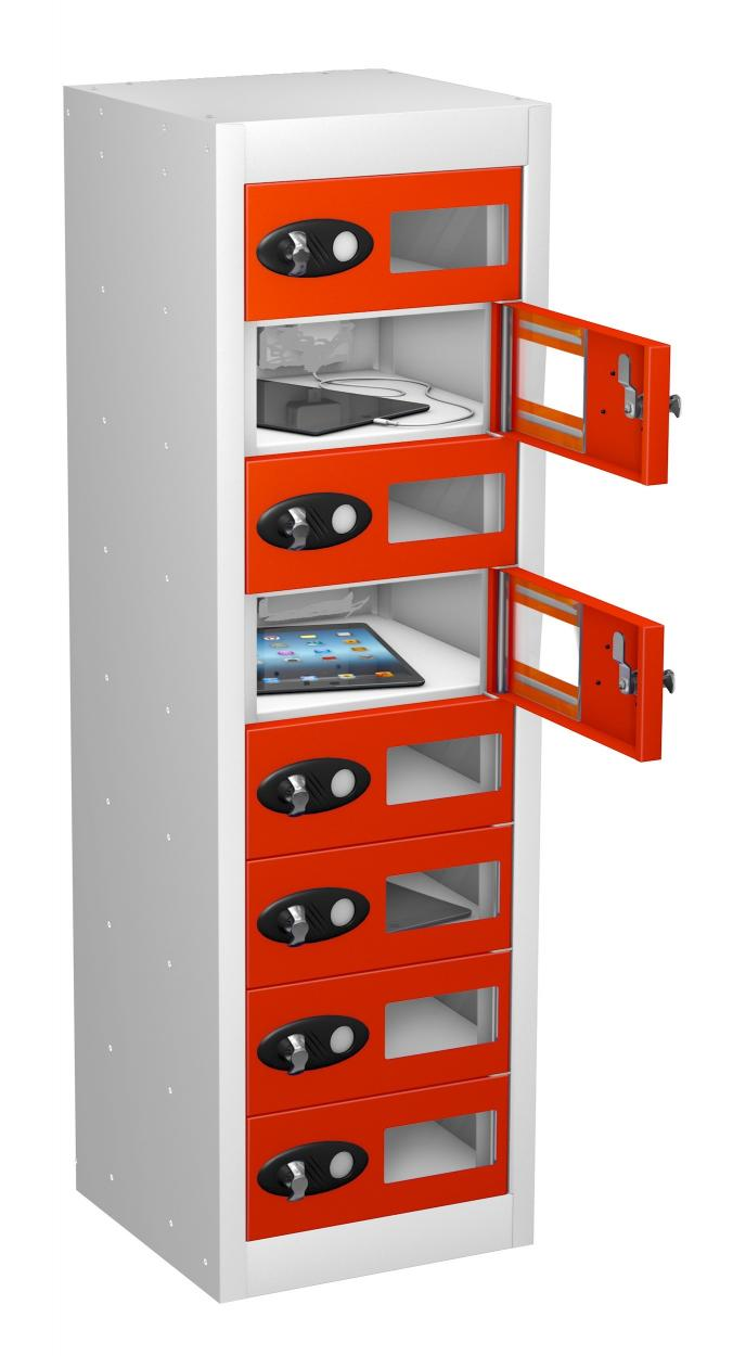 Vision Panel 8 Compartment Mobile Phone NON Charging Locker