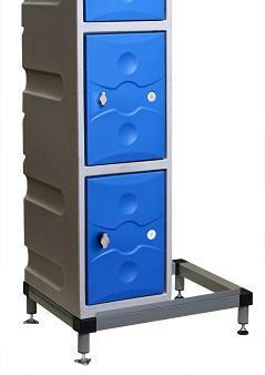 Std 160mm high Plastic locker Stand Sch 1