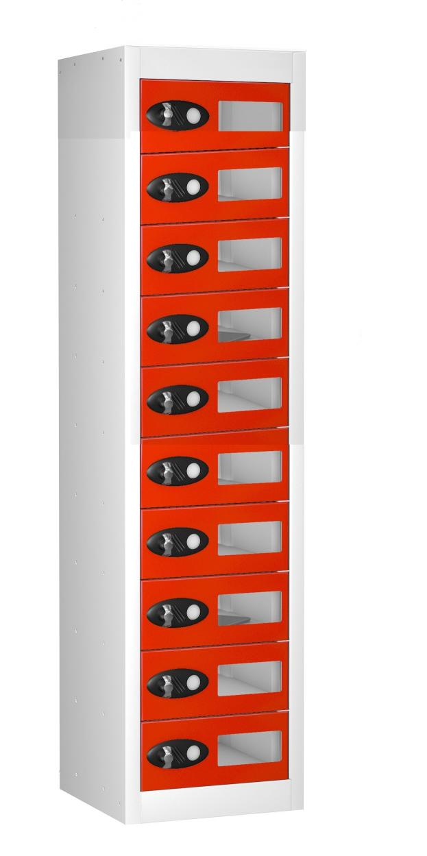 Vision Panel 10 Compartment Personal Effects Locker