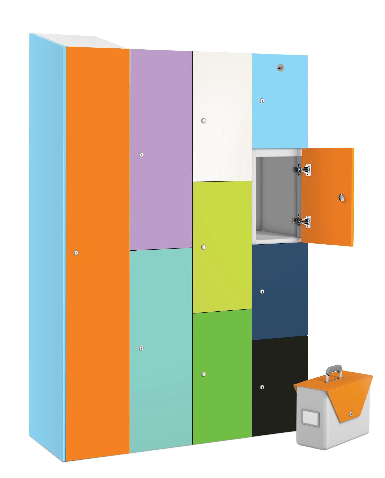 3 Compartment Satin Finish- MFC Door Locker