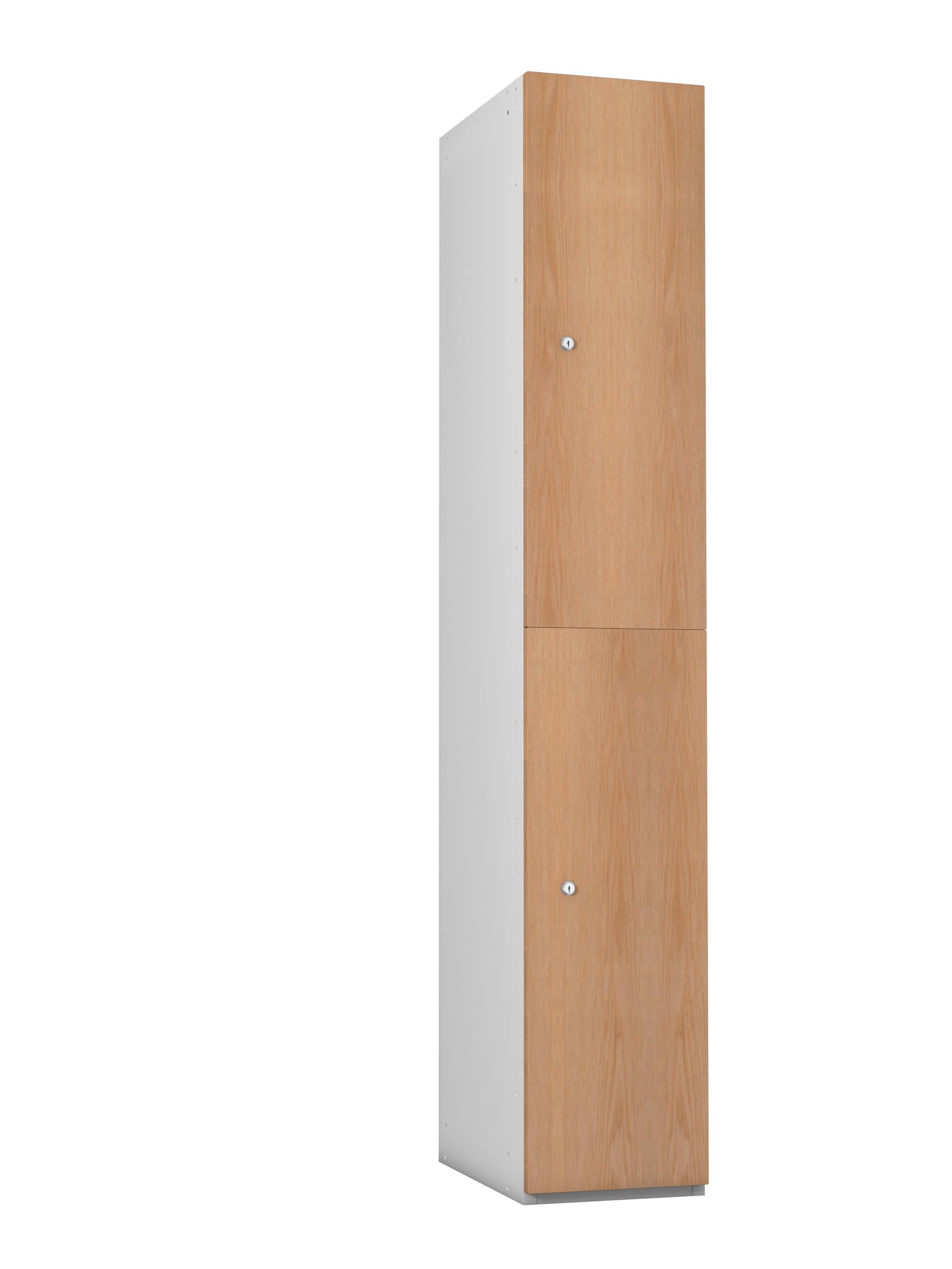 2 Compartment Timber Effect - MFC Door Locker