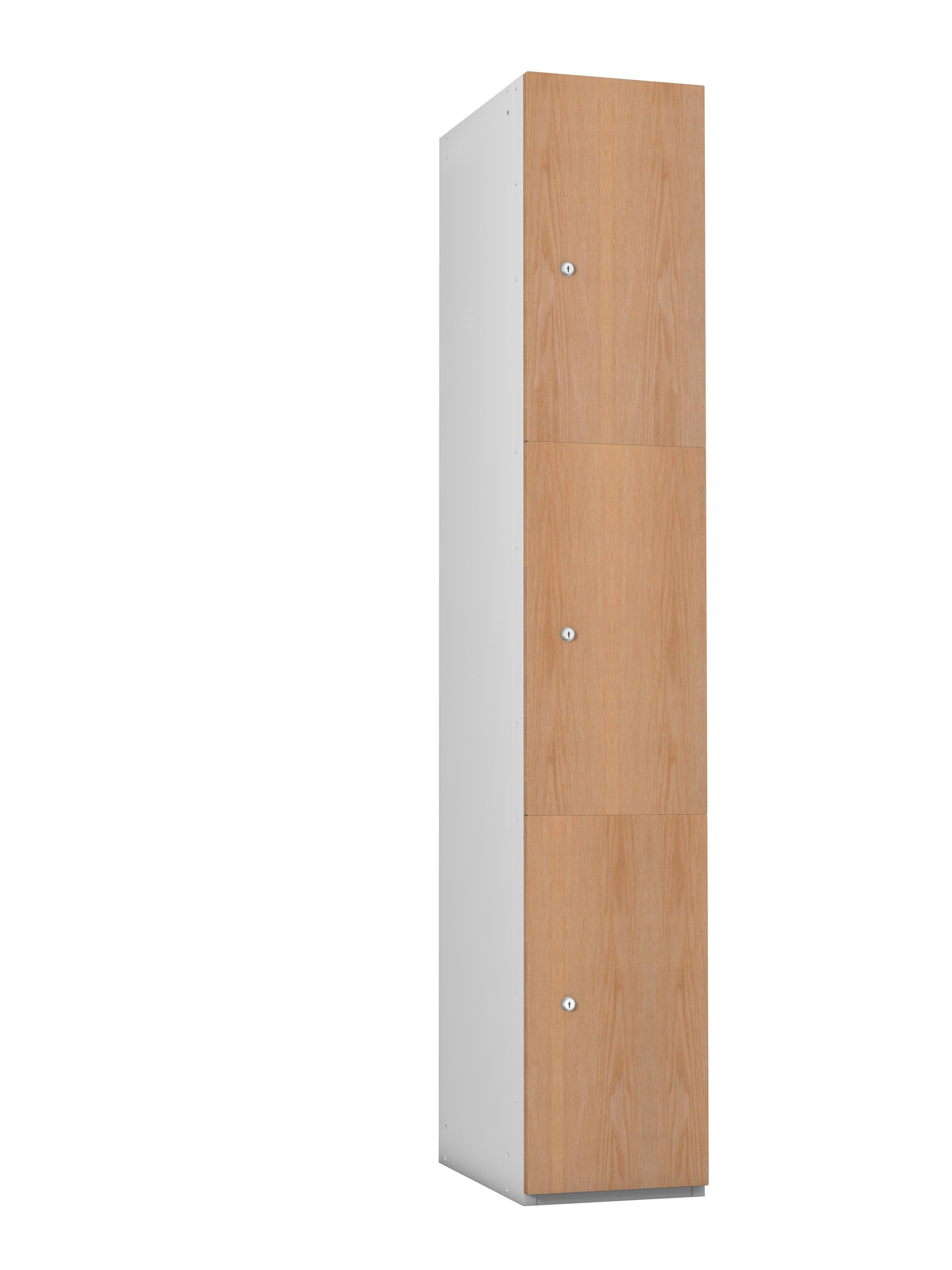3 Compartment Timber Effect- MDF Door Locker