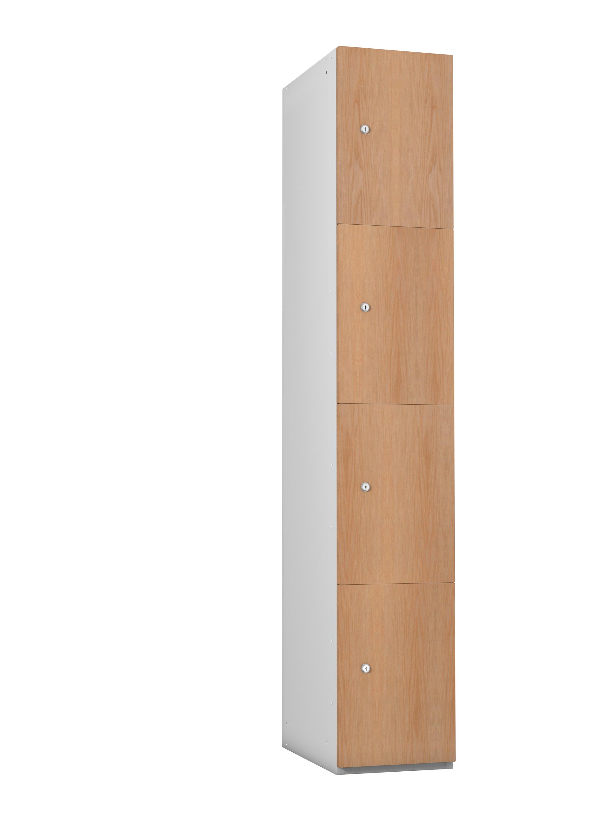 4 Compartment Timber Effect- MDF Door Locker