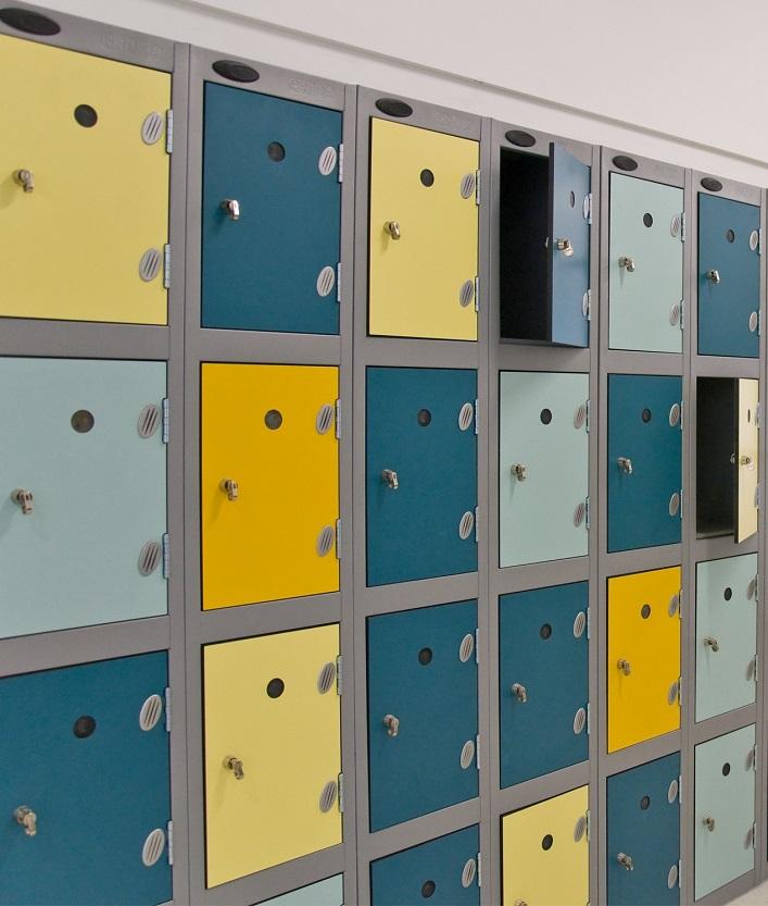 3 Tiers Inset Laminate School Locker