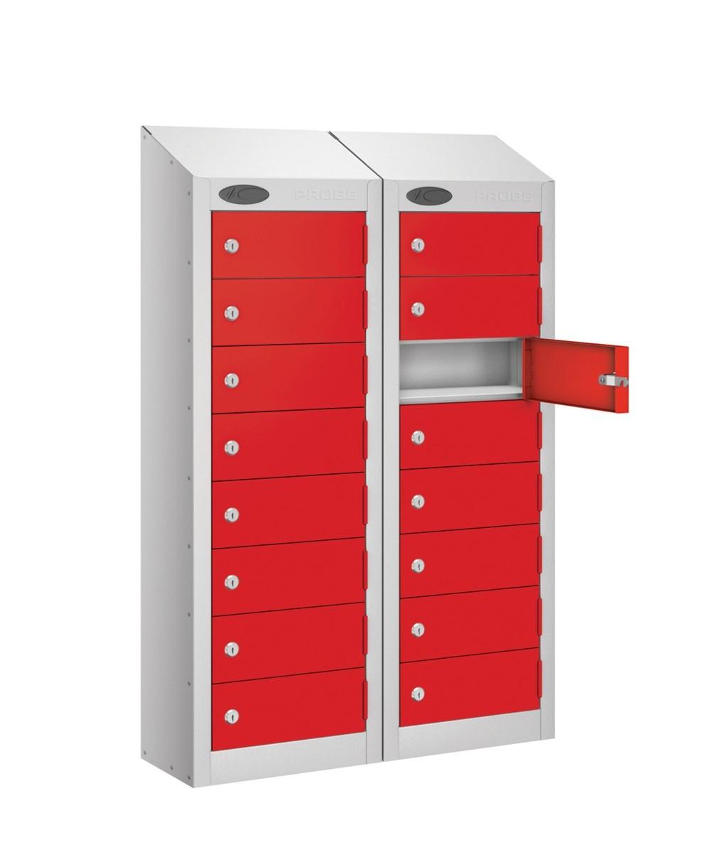 School 8 Door Mobile Phone Storage Locker NON CHARGING Sloping Top 2