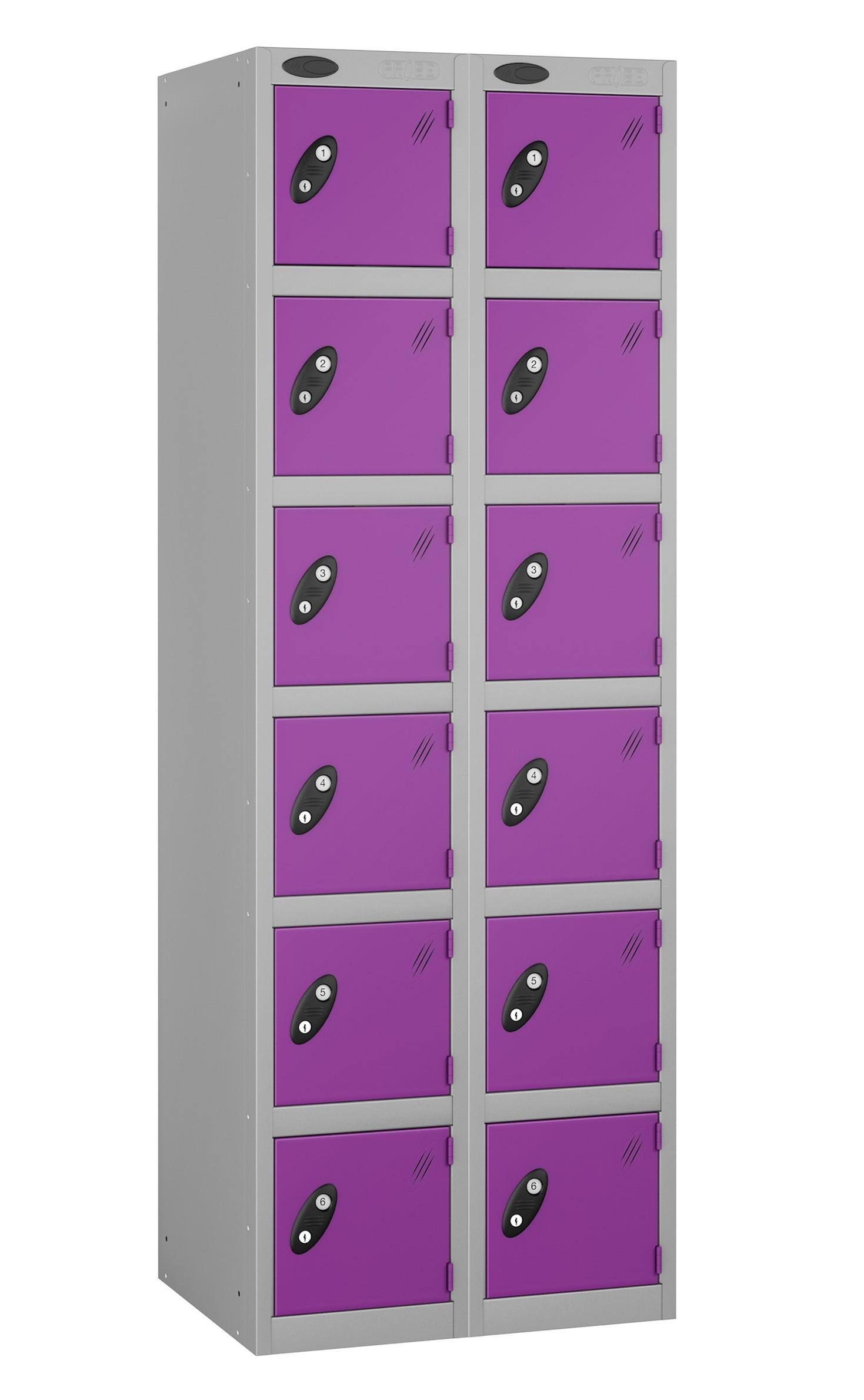 Colour Range Six Doors Locker - Nest of 2