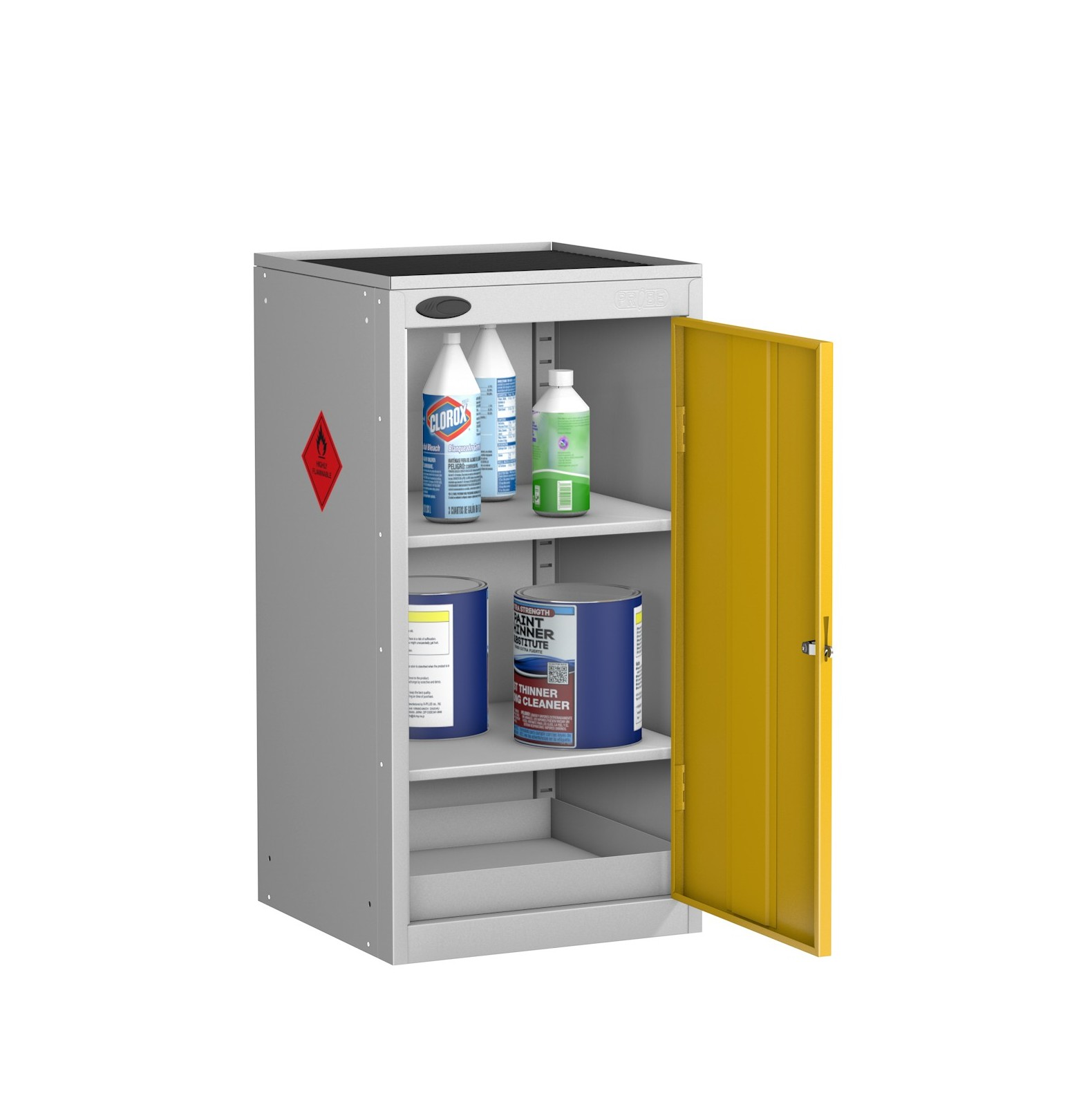 Small Hazardous Cabinet Dished Top