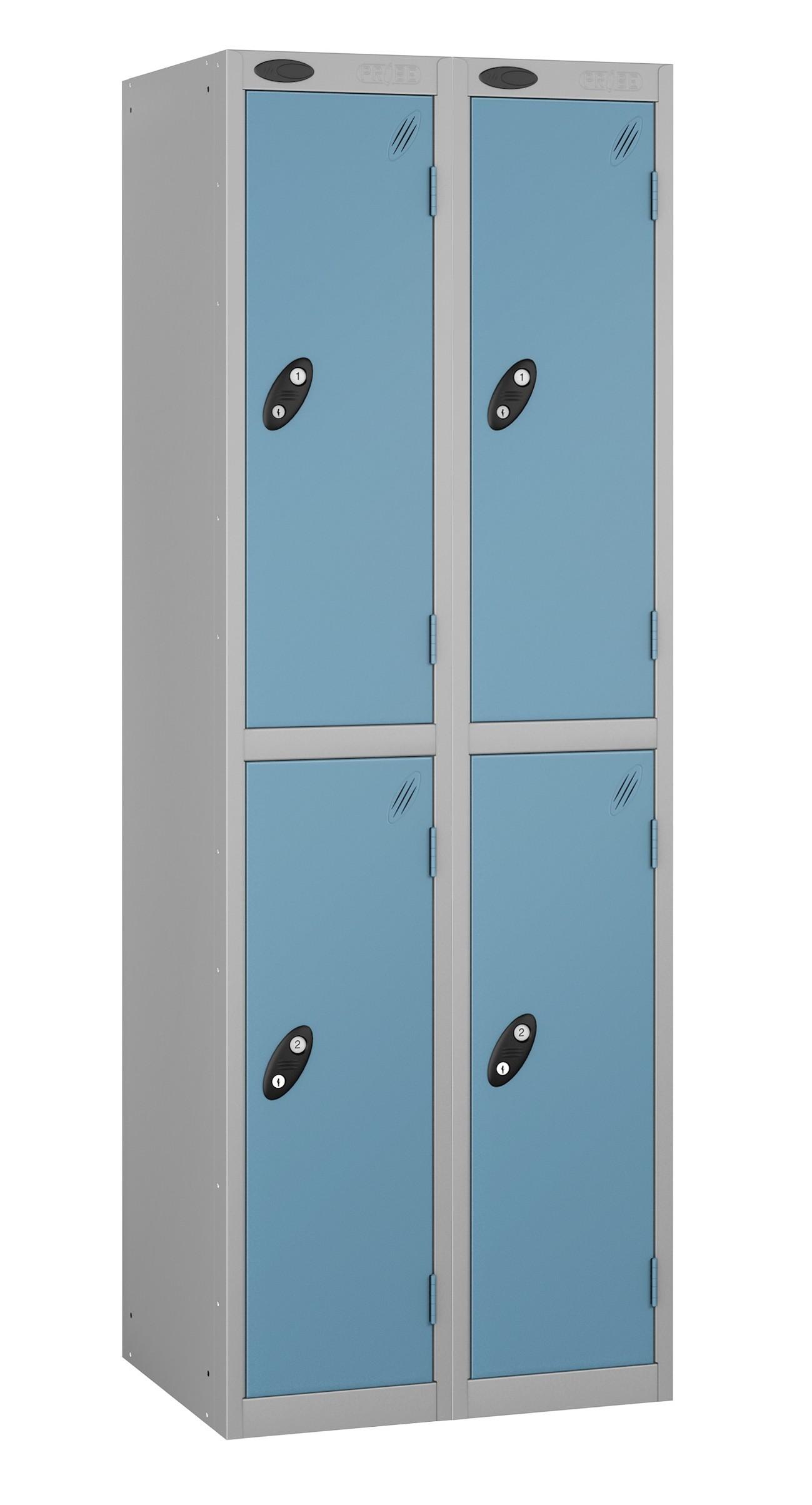 Colour Range Two Doors Locker - Nest of 2