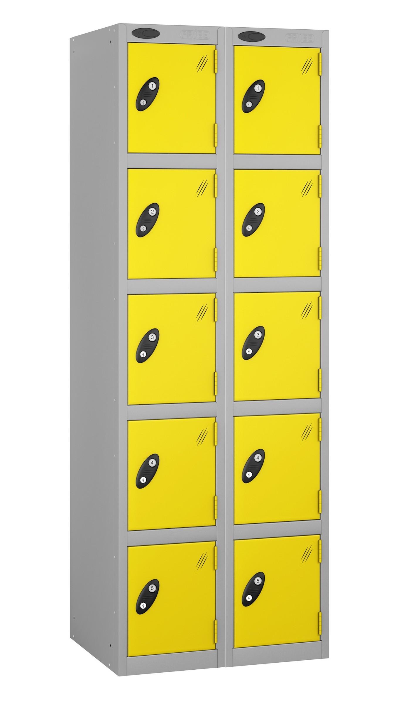 Colour Range Five Doors Locker - Nest of 2