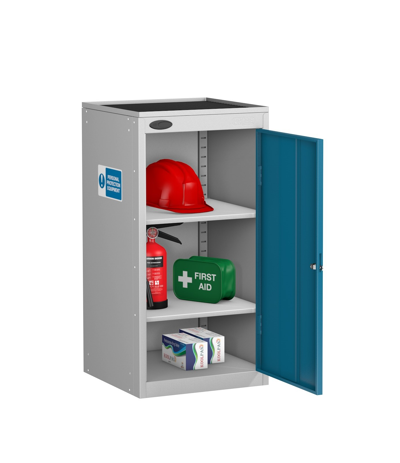 Small PPE Cabinet Dished Top