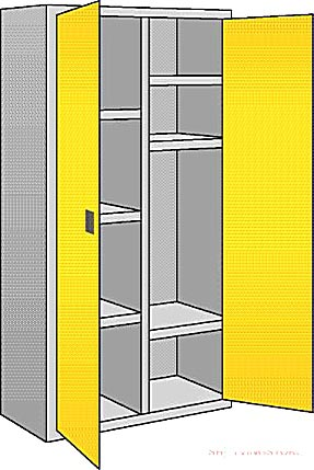 8 Compartments ACID + Alkali Cabinet