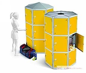 Twenty One Doors Seven Seed Pod Locker Extreme Space Saving