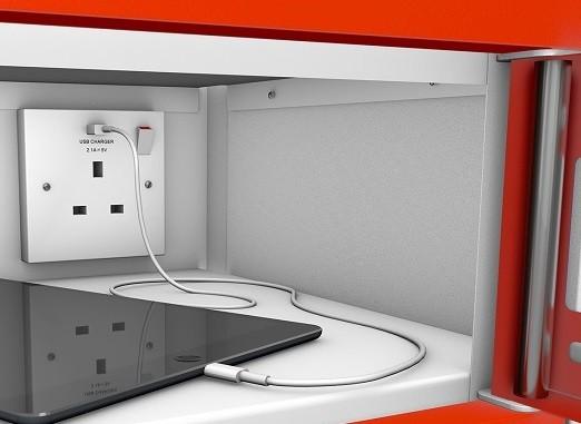 Single Door 15 Shelf Tablet Charging Locker