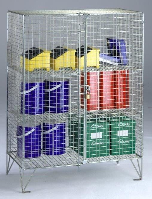 Wire Mesh Low Cupboard - Double Door
