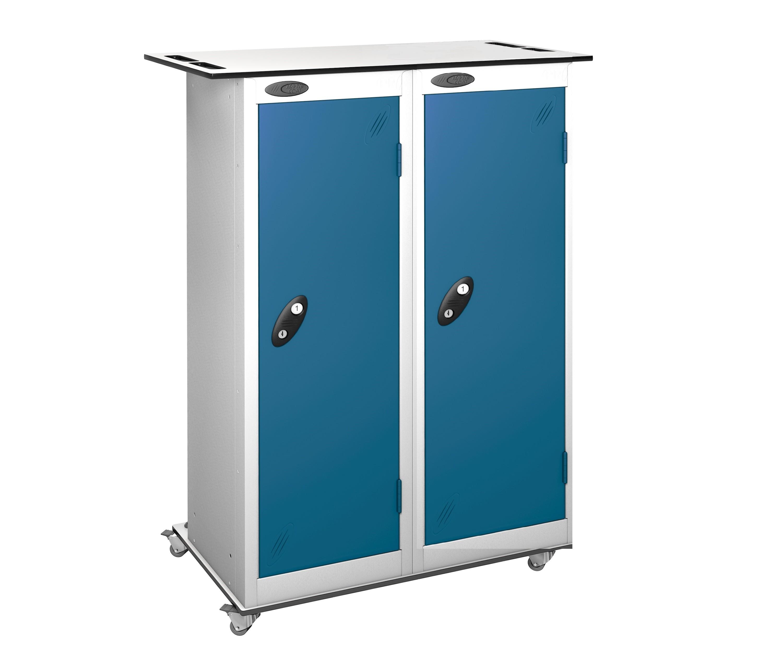 2 Door 16 Compartment Tablet Trolley