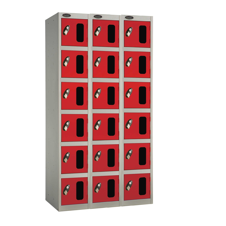 Six Doors Vision Panel Locker - Nest of 3