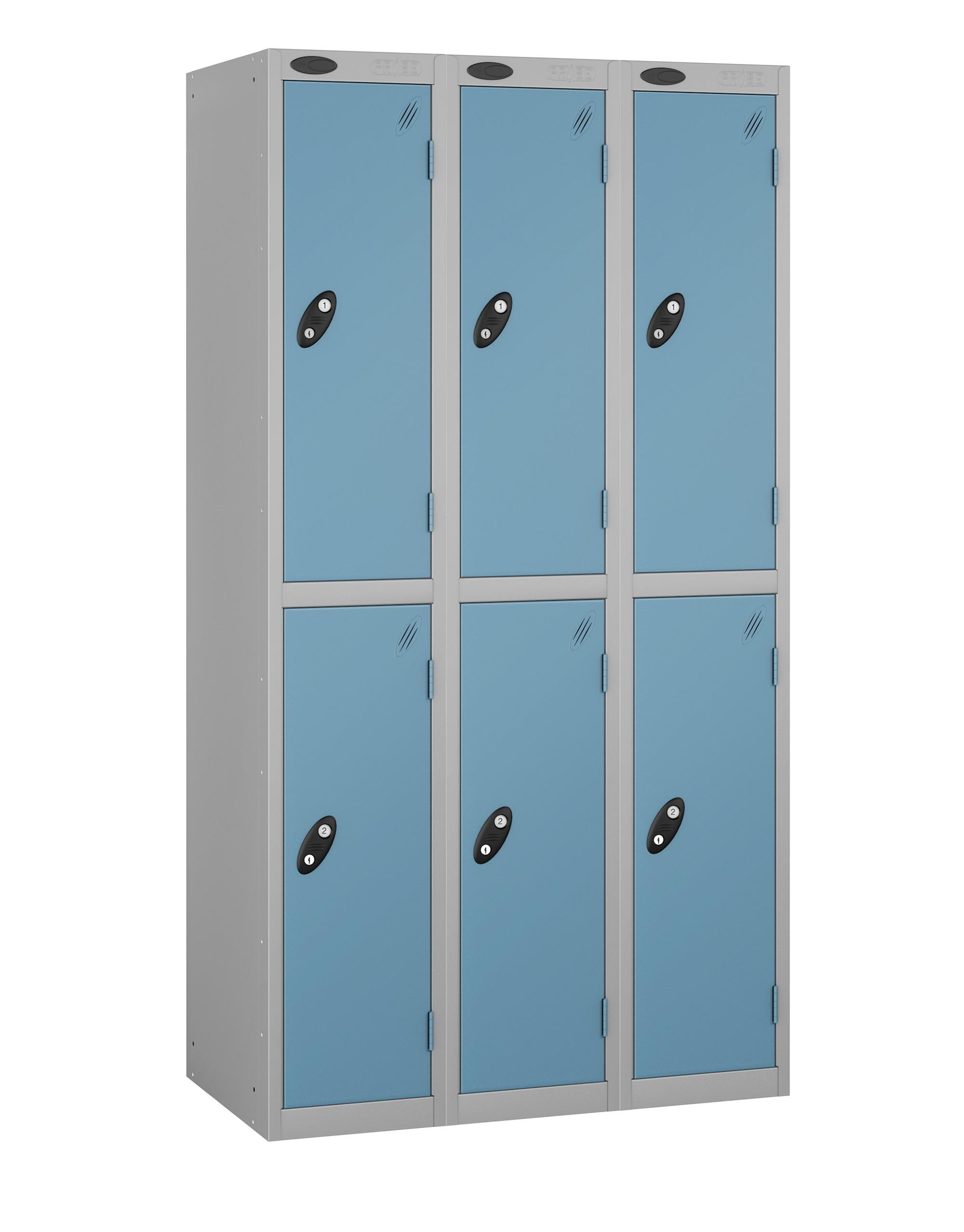 Colour Range Two Doors Locker - Nest of 3