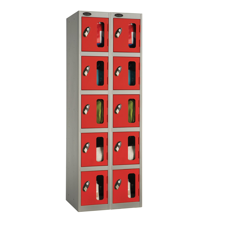 Five Doors Vision Panel Locker - Nest of 2