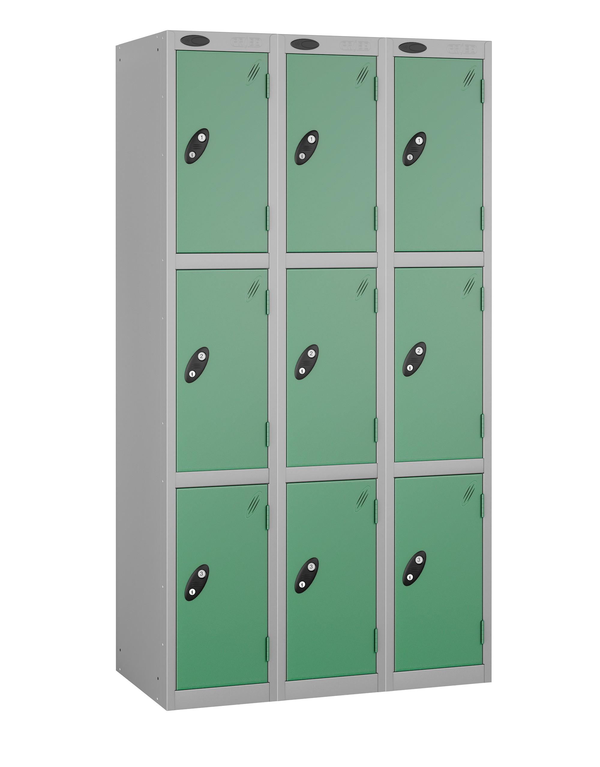 Colour Range Three Doors Locker - Nest of 3